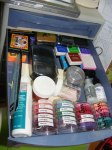 Inks, pigments, dyes, stamp pads