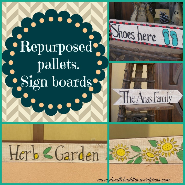 Upcycle Pallets to sign boards