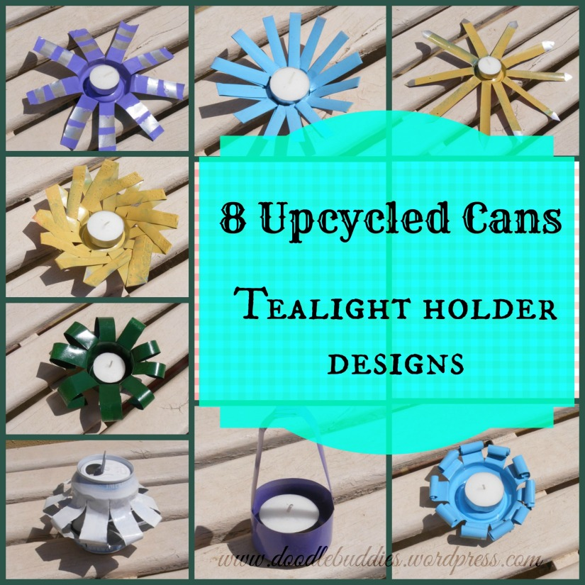 8 upcycled cans tealight holder designs