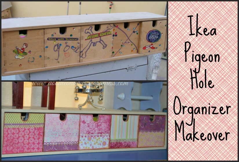 Ikea pigeon hole organizer makeover