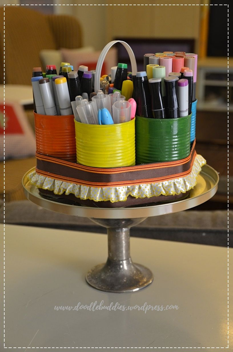 upcycle can stationery organizer 0