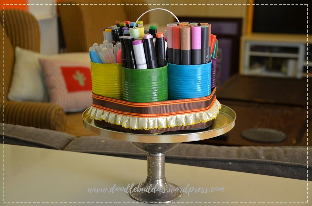 upcycle can stationery organizer 3