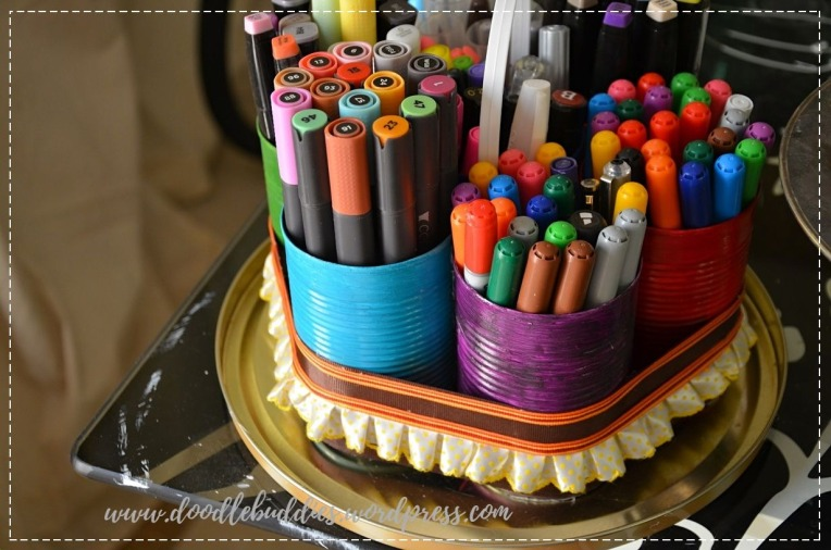 Upcycle Can stationery organizer 4