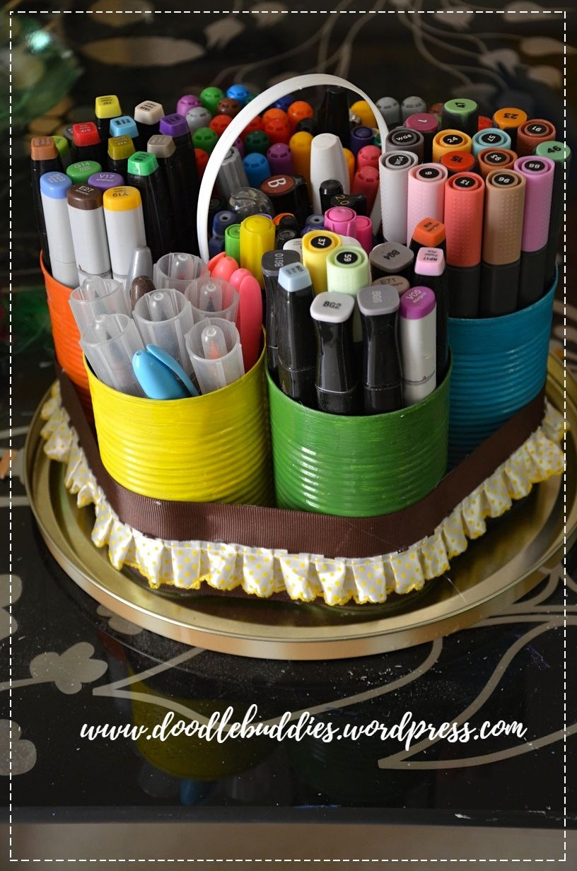 Upcycle Can stationery organizer 9