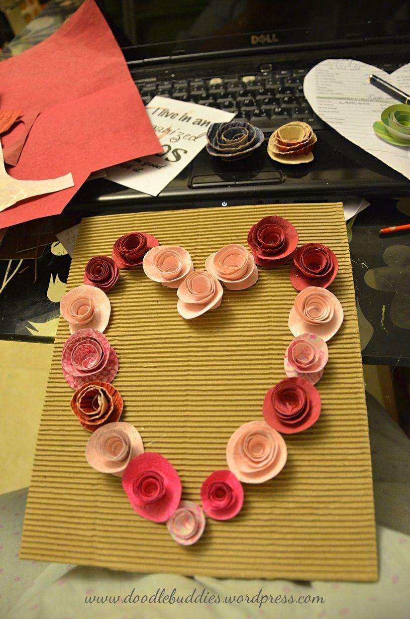 quill heart frame diy 5