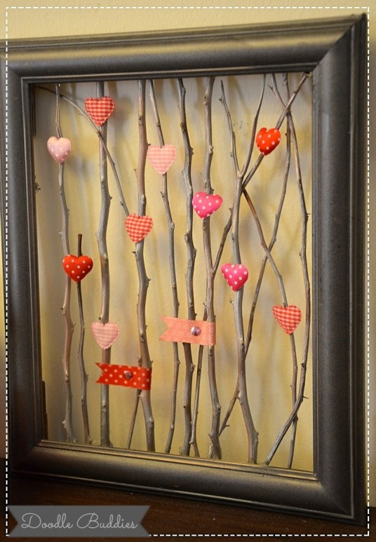 doodle buddies upcycle twigs and frame craft