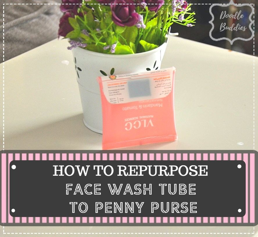 face wash tube to penny purse