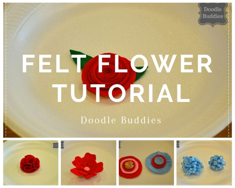 Felt flowers tutorial