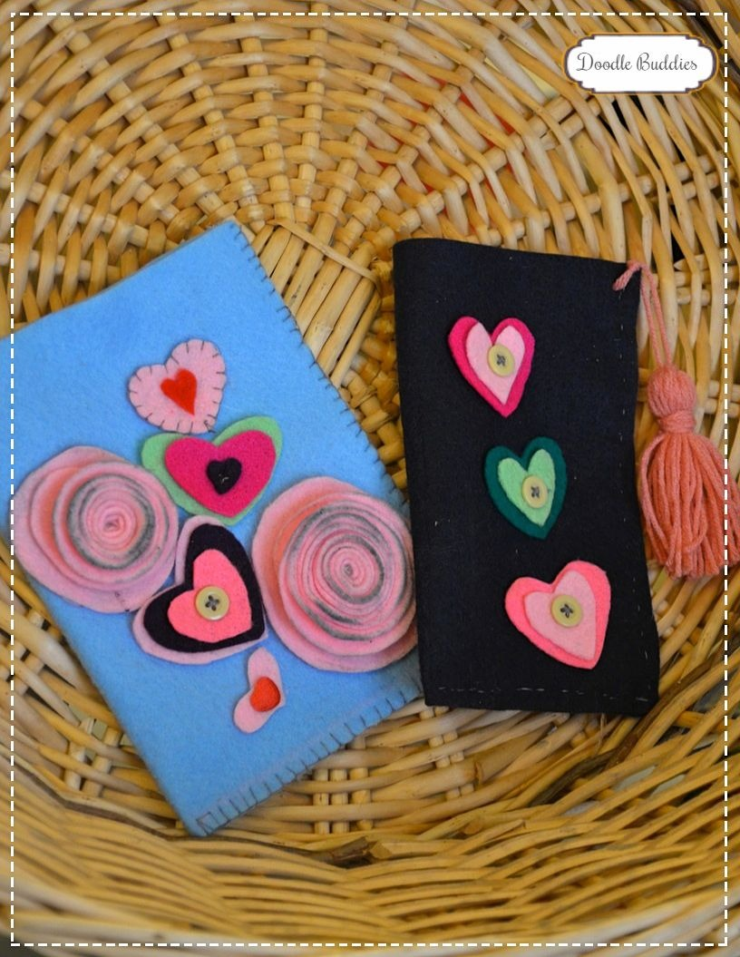 felt pouch for valentines