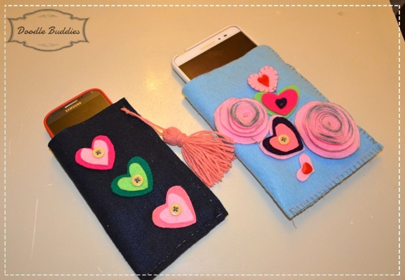 phone felt pouch tutorial