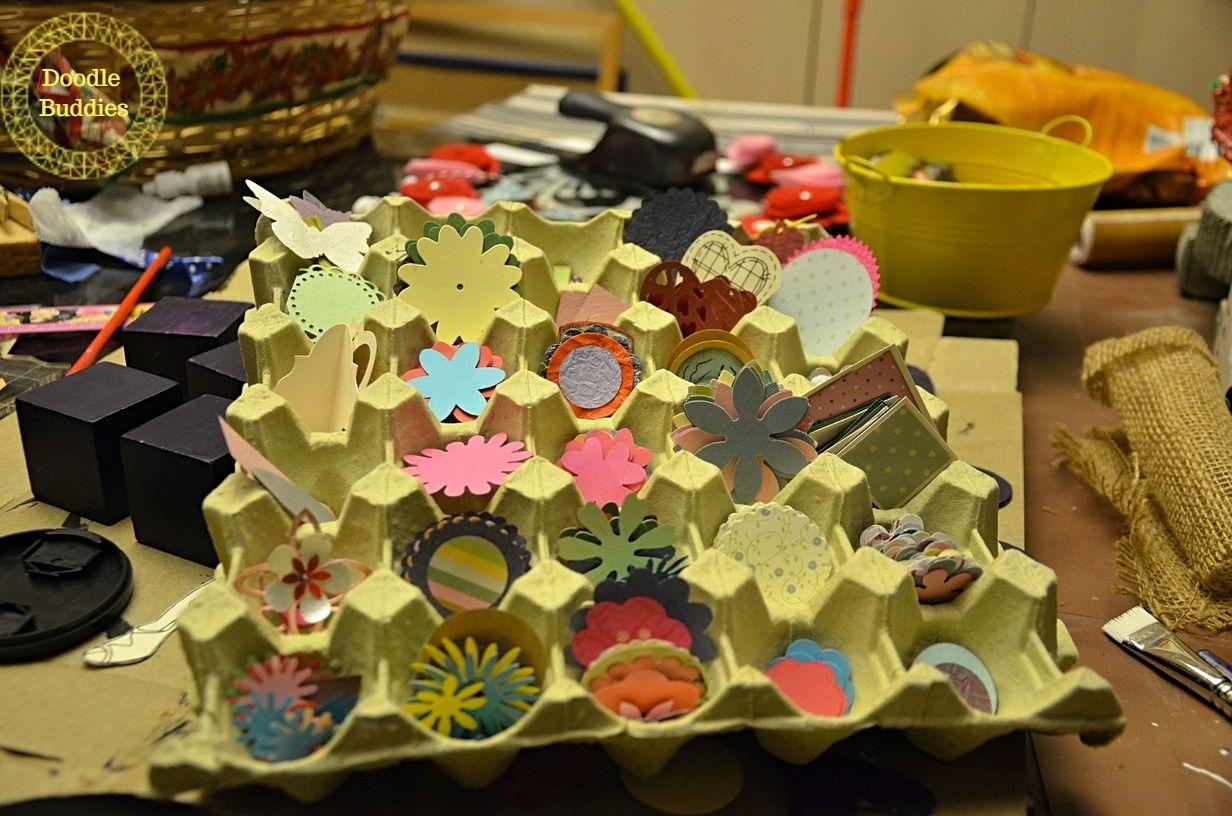 upcycle egg tray to organizer