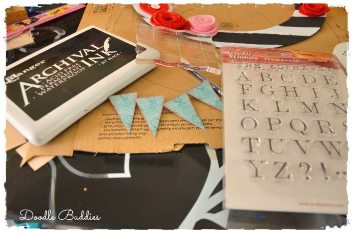 Bunting and rubberstamping