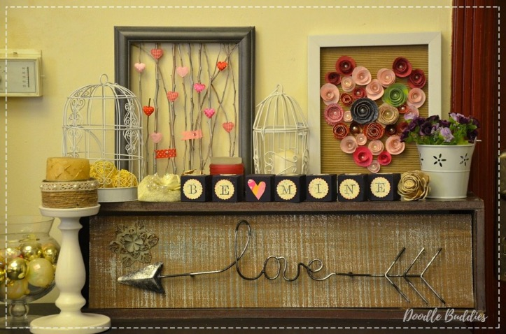Romantic Mantle decor