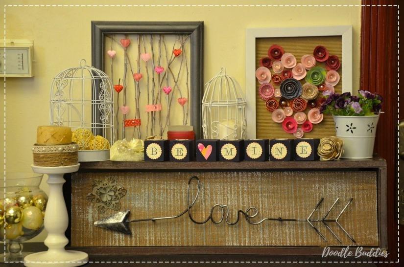 Romantic Mantle decor