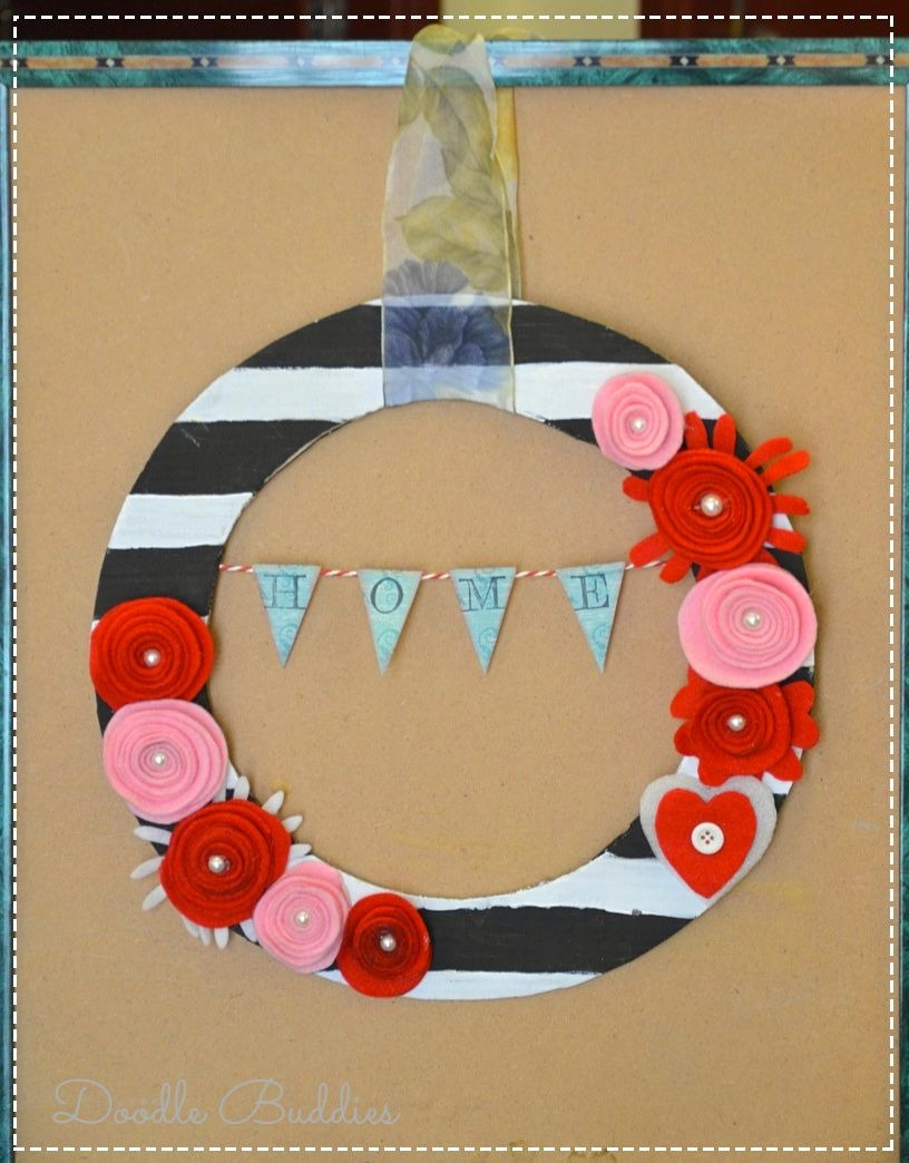 wreath and frame