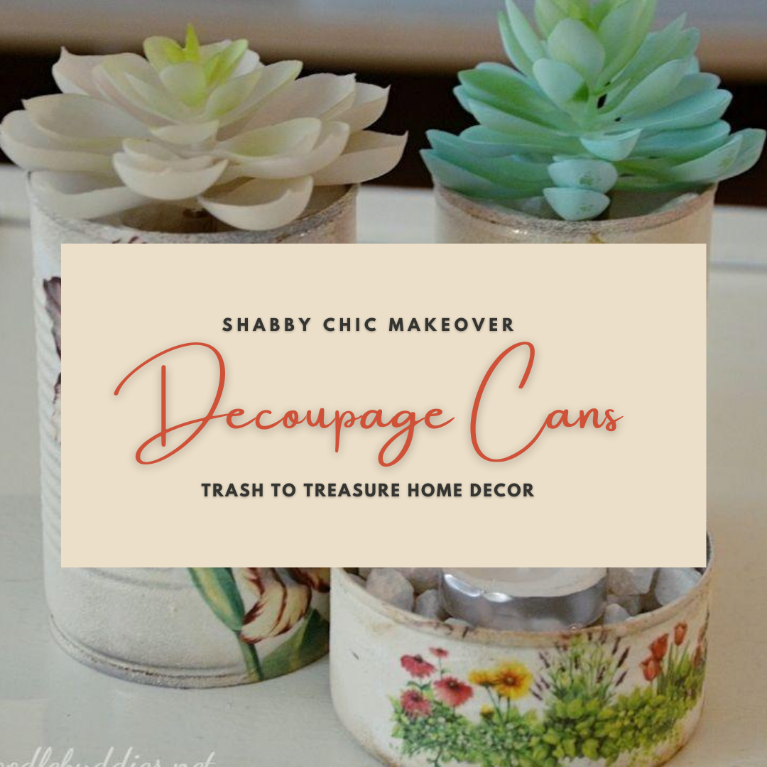 Shabby Chic Makeover with Decoupage