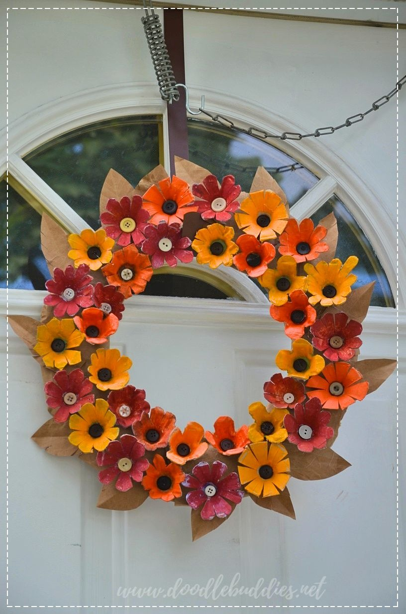 egg carton wreath 2