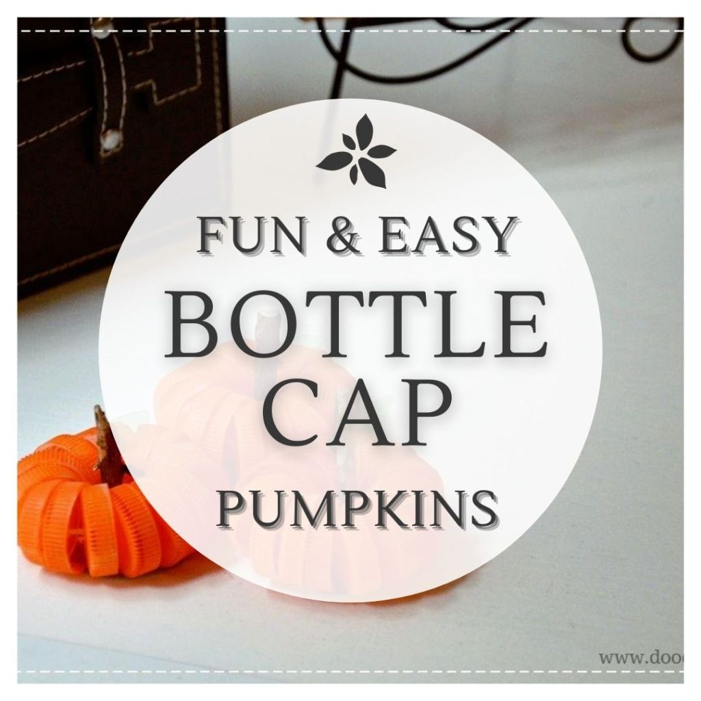 An easy DIY to create Pumpkins from Bottle caps