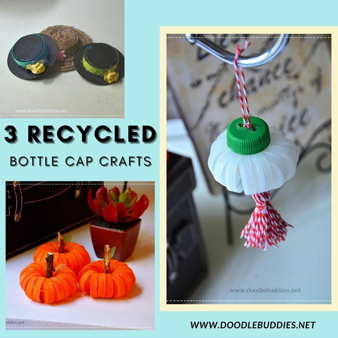 3 Easy and Fun DIY Crafts with Bottle caps
