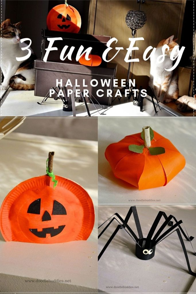 3 FUN AND EASY HALLOWEEN CRAFTS FOR KIDS