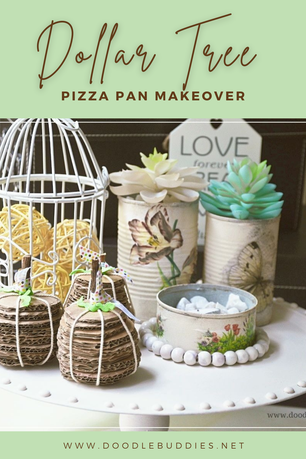 Diy Dollar Tree Pizza Pan Shabby Chic Makeover