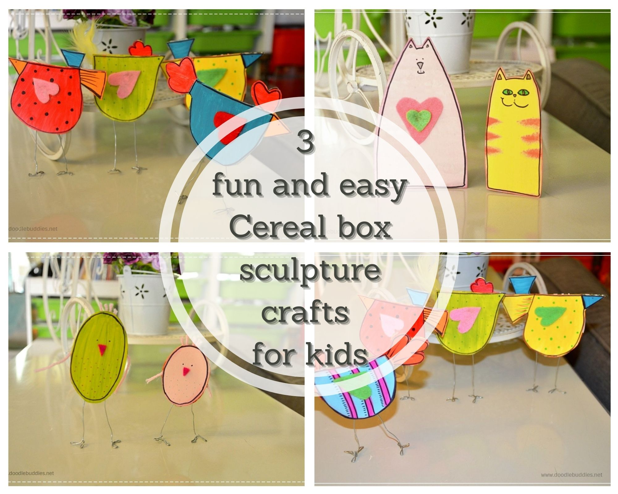 3 Ways to create amazing and fun cereal box sculptures.