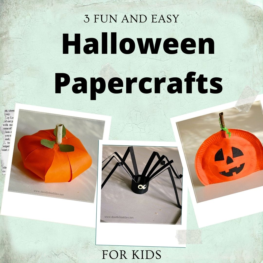 3 Fun and Easy Halloween crafts for kids.