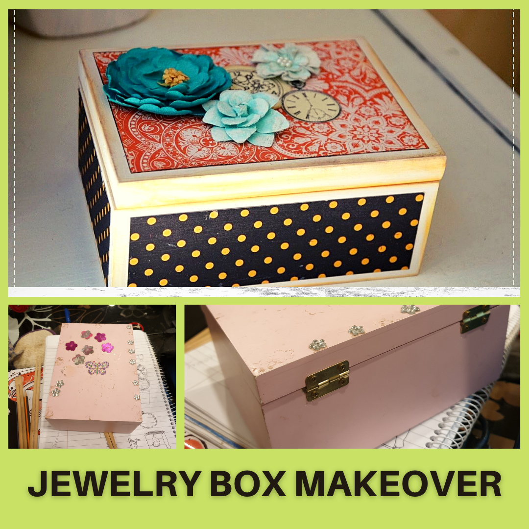 DIY Wooden Jewelry Box Makeover