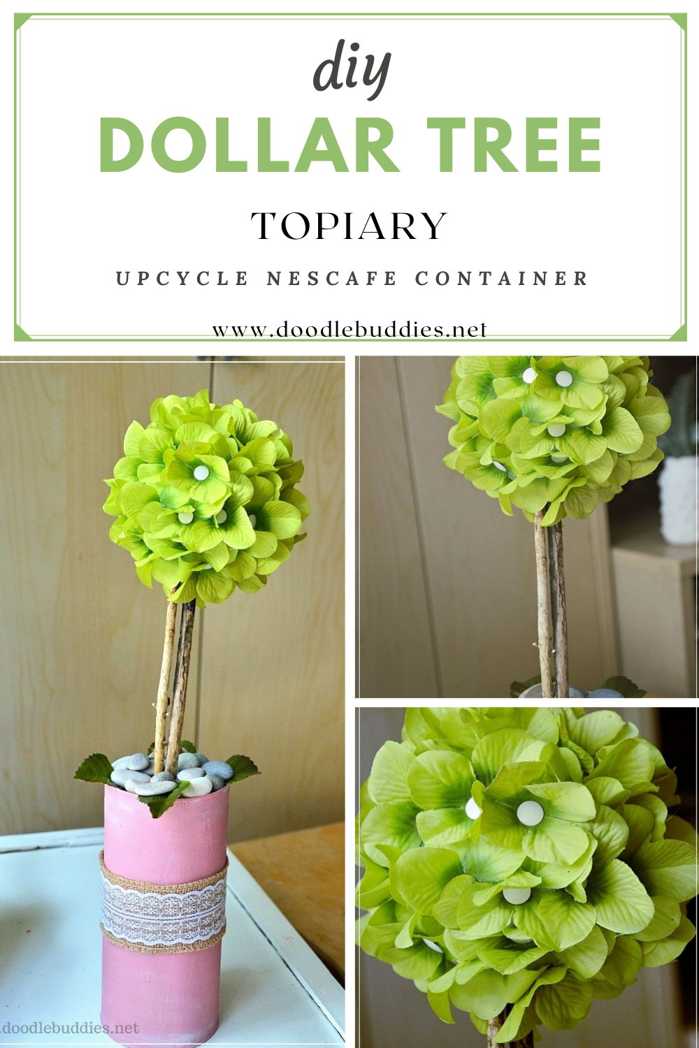 How To Make A Dollar Store Topiary