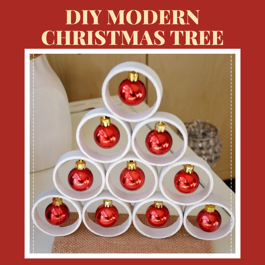 DIY MODERN & RUSTIC CHRISTMAS TREE