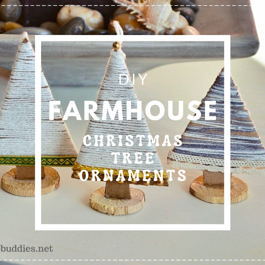 DIY Farmhouse Christmas Tree Ornaments