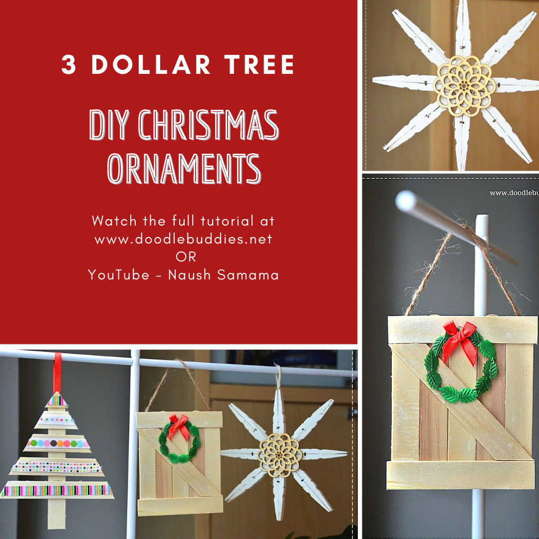3 Dollar Tree DIY Christmas Ornaments