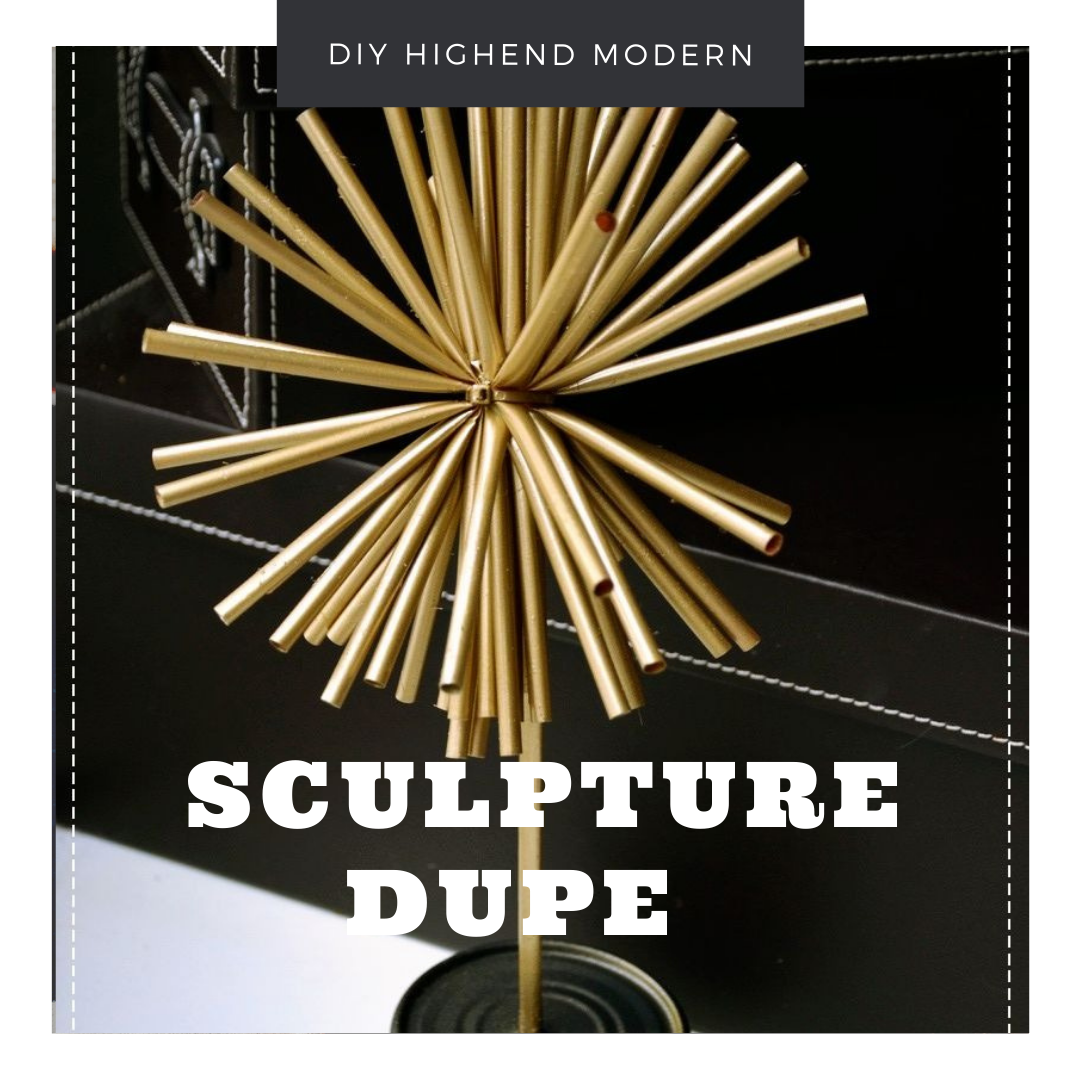 DIY Stunning High End Modern Sculpture dupe